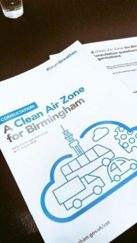 Clean Air Zone Consultation Deadline On Friday 17th August!