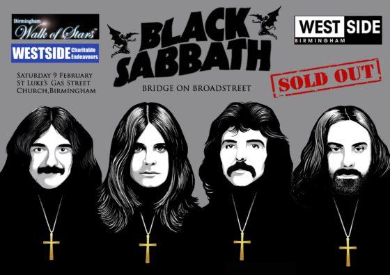 Tickets sold out for Black Sabbath's 'heavy metal' bench event in Birmingham