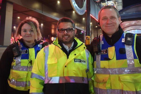 Top politician patrols busy Broad Street with wardens