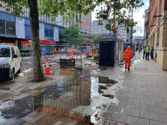 Water chaos on Broad Street as Metro workers burst a main