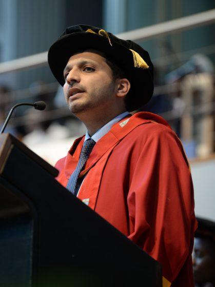 Honorary doctorate for top BID leader