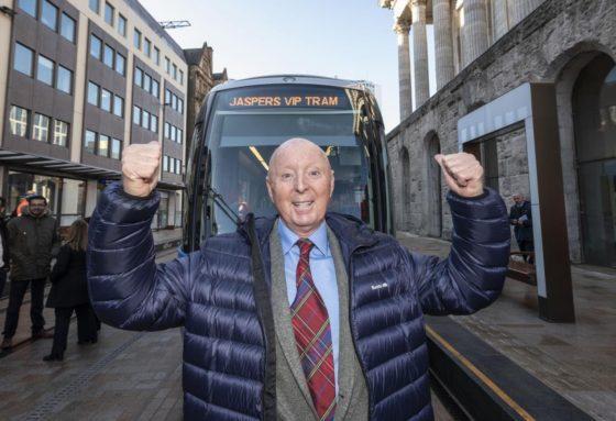 Jasper's funky tram hits Broad Street!