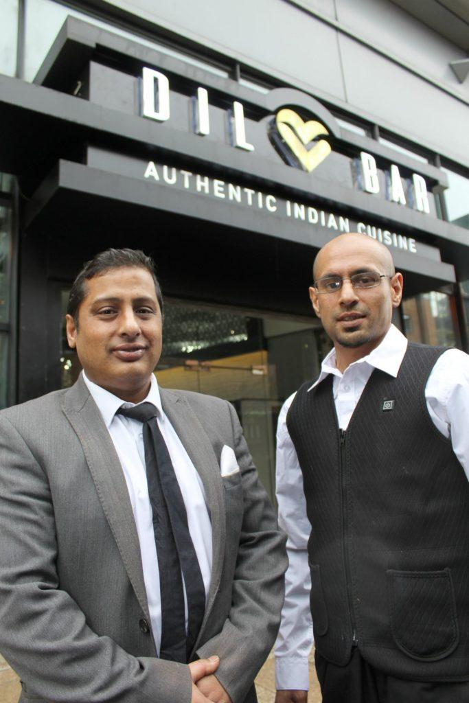 Dilbar manager Ahad 'Raj' Uddin (left) and Aziz Khan outside the restaurant.