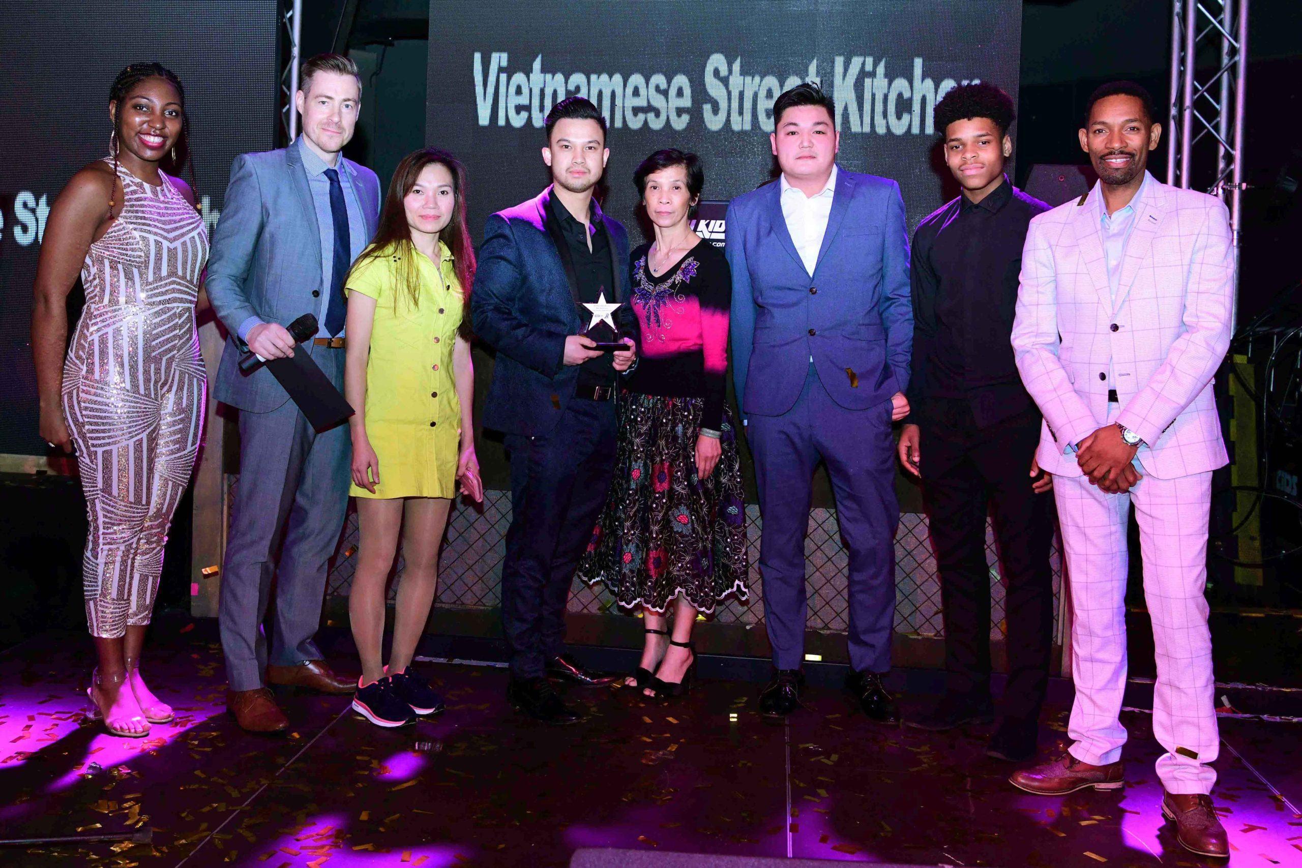 Vietnamese Street Kitchen staff pick up 'Best Newcomer' award at the WOWs