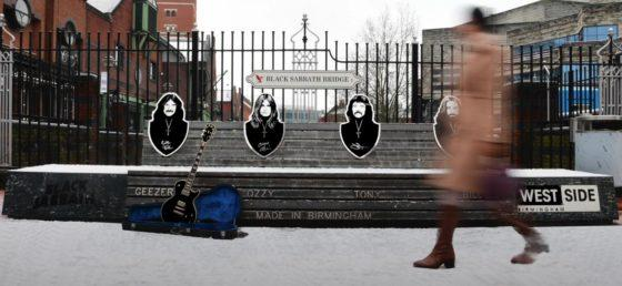 Black Sabbath's 'heavy metal' bench gets spruced up ahead of lockdown ending