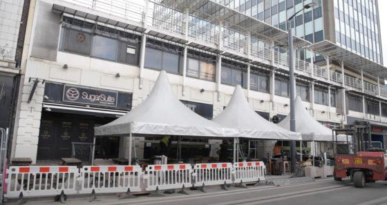 Take 100-seconds to watch new marquees go up outside Velvet Music Rooms