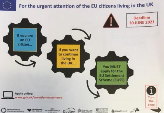 Urgent: Westside's EU staff must apply for settled status by 30 June